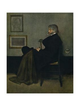 'Arrangement in Grey and Black, No.2: Thomas Carlyle', c1872 by James Abbott McNeill Whistler