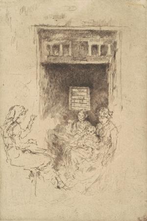 Bead-Stringers, 1880 by James Abbott McNeill Whistler
