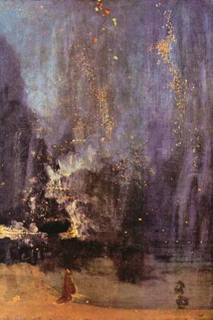 James Abbot McNeill Whistler Nocturne in Black and Gold, Falling Rocket by James Abbott McNeill Whistler