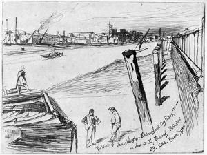Millbank, C1860 by James Abbott McNeill Whistler