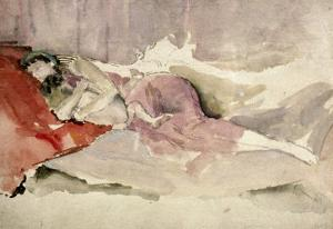 Mother and Child on a Couch by James Abbott McNeill Whistler