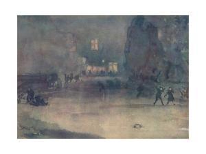 'Nocturne - Amsterdam in Snow', 1882 by James Abbott McNeill Whistler