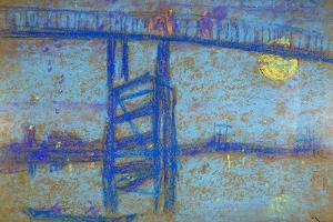 Nocturne: Battersea Bridge, 1872-1873 by James Abbott McNeill Whistler