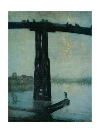 'Nocturne: Blue and Gold - Old Battersea Bridge', c1872-5
