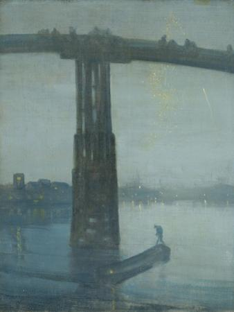 Nocturne: Blue and Gold - Old Battersea Bridge by James Abbott McNeill Whistler