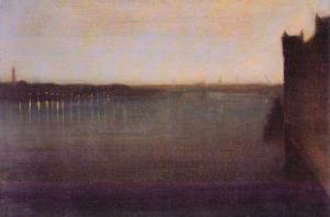 Nocturne In Gray and Gold, Westminster Bridge by James Abbott McNeill Whistler