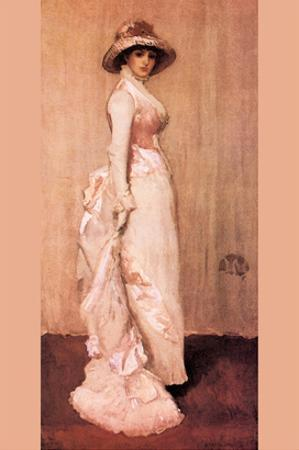 Nocturne in Pink and Gray, Portrait of Lady Meux by James Abbott McNeill Whistler