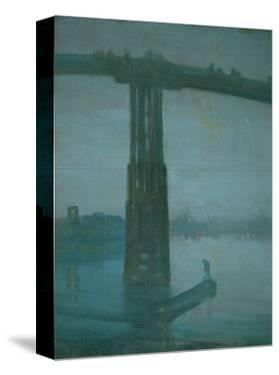 Old Battersea Bridge, Nocturne: Blue and Gold (1872-1877) by James Abbott McNeill Whistler