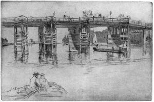 Old Putney Bridge, 1879 by James Abbott McNeill Whistler