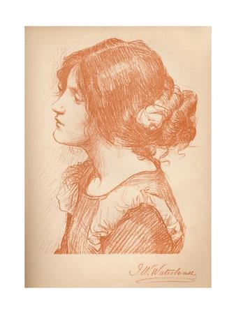 'Sketch Of A Woman' c1885, (1896)