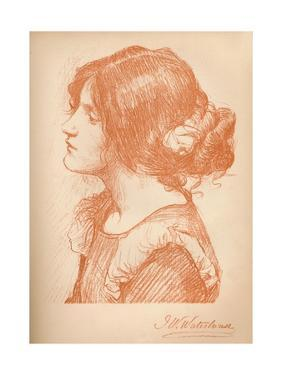 'Sketch Of A Woman' c1885, (1896) by James Abbott McNeill Whistler