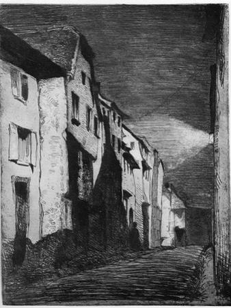 Street at Saverne, 19th Century
