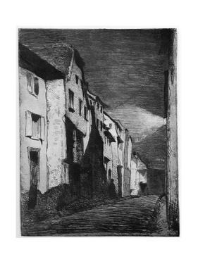 Street at Saverne, 19th Century by James Abbott McNeill Whistler