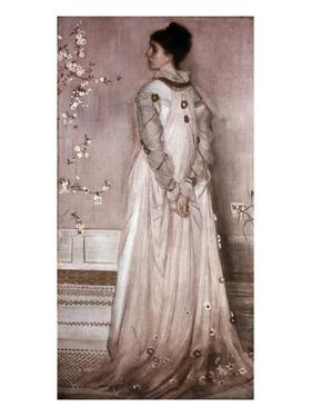 Symphony in Flesh Color and Pink: Portrait of Mrs. Frances Leyland by James Abbott McNeill Whistler