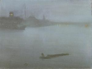 Thames - Nocturne in Blue and Silver, c.1872/8 by James Abbott McNeill Whistler