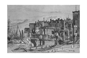 'Thames Police (formerly called Wapping Wharf', 1859, (1903) by James Abbott McNeill Whistler