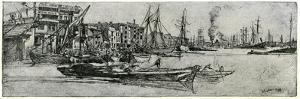 Thames Warehouse, 19th Century by James Abbott McNeill Whistler