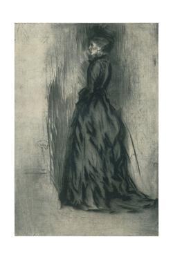'The Velvet Dress (Frances Leyland)', c1873, (1904) by James Abbott McNeill Whistler
