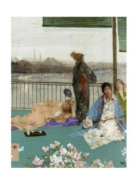 Variations in Flesh Colour and Green: the Balcony, C. 1870 by James Abbott McNeill Whistler