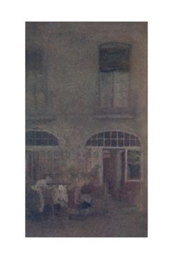 'White And Grey The Hotel Courtyard Dieppe', 1885, (1904) by James Abbott McNeill Whistler