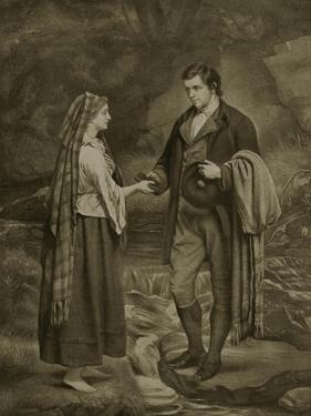 Betrothal of Robert Burns and Highland Mary, 1785 by James Archer