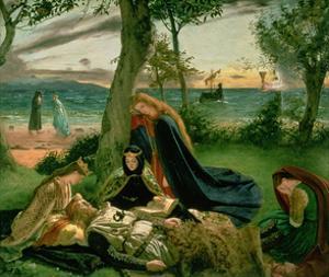 Le Morte D'Arthur, 1860 by James Archer