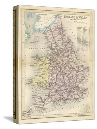 Map of England and Wales Showing Railways and Canals by James Archer