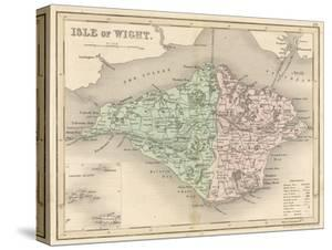 Map of the Isle of Wight by James Archer