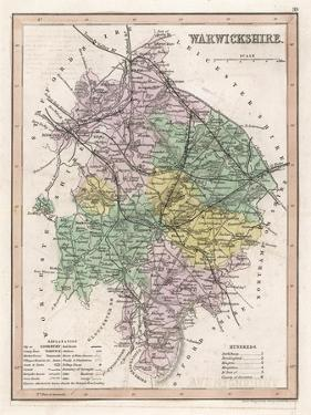 Map of Warwickshire by James Archer