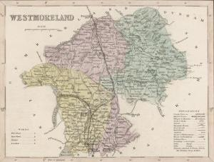 Map of Westmoreland by James Archer