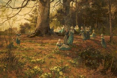 An Easter Holiday, the Children of Bloomsbury Parochial School in a Wood at Watford, 1874