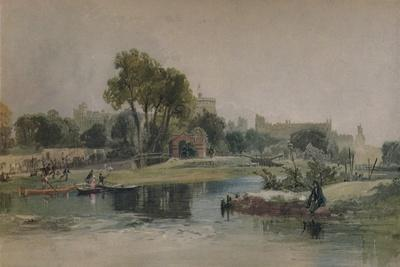 Windsor Castle from the Eton Play Ground, c1838
