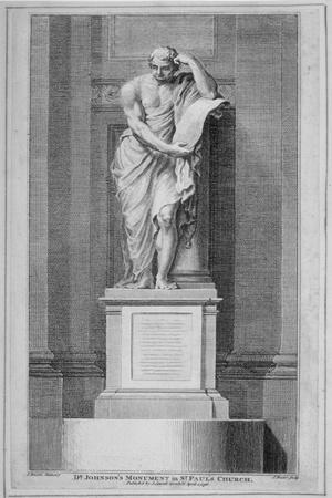 Dr Johnson's Monument, in St Paul's Cathedral, City of London, 1796