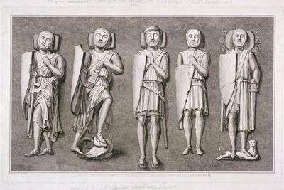 Five Effiigies of Knights from Temple Church, London, 1786