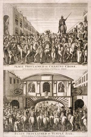 Proclamation of Peace of the American War of Indepence, London, 1763