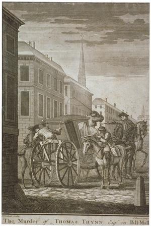 Scene of Thomas Thynne's Murder in Pall Mall, Westminster, London, 1682