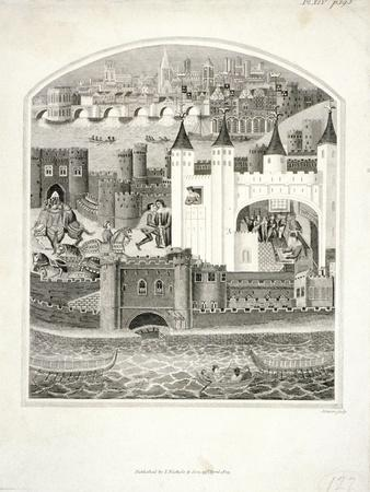 Charles Duc D'Orleans Imprisoned in the Tower of London with London Bridge in the Background, 1803