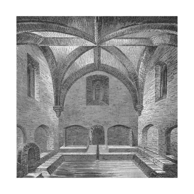 Interior view of Queen Elizabeth's Bath, London, 1834 (1904)