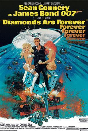 James Bond (Diamonds Are Forever 2) Movie Poster Print
