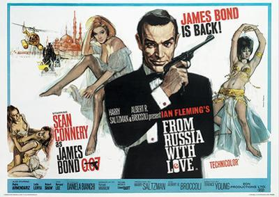 James Bond (From Russia With Love 1) Movie Poster Print