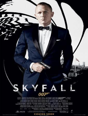 James Bond (Skyfall One Sheet - Black) Movie Poster Print