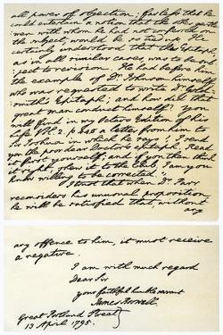 Letter from James Boswell to Edmond Malone, 13th April 1795 by James Boswell