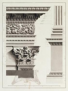 Elevation of Pedestal Entablature of the Arch at Tripoli by James Bruce