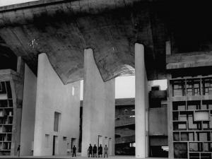 Entrance to Punjab High Court Building, Designed by Le Corbusier, in the New Capital City of Punjab by James Burke