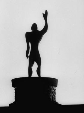 """Statue of """"Le Modulor,"""" by Le Corbusier's Ratio of Architectural Design in Relation to Human Figure by James Burke"""