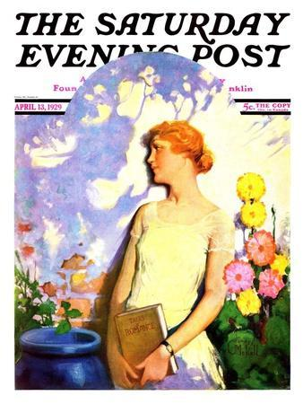 """""""Shadow Lover,"""" Saturday Evening Post Cover, April 13, 1929"""