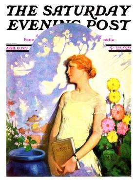 """""""Shadow Lover,"""" Saturday Evening Post Cover, April 13, 1929 by James C. McKell"""