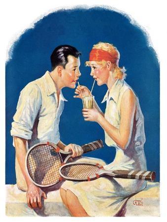 """Tennis Couple,""June 21, 1930"