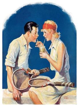 """""""Tennis Couple,""""June 21, 1930 by James C. McKell"""