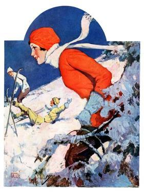 """""""Woman Skier,""""February 14, 1931 by James C. McKell"""